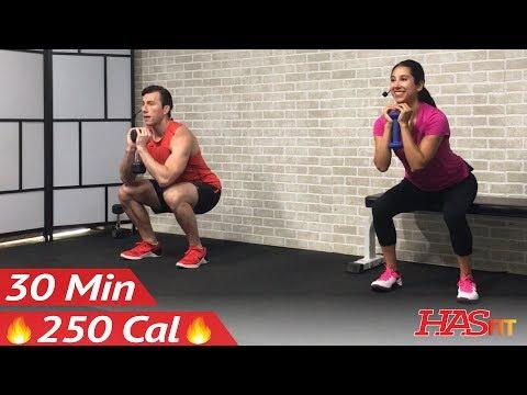 30 Minute Beginner Weight Training for Beginners - Home Strength Training Full Body Dumbbell Workout