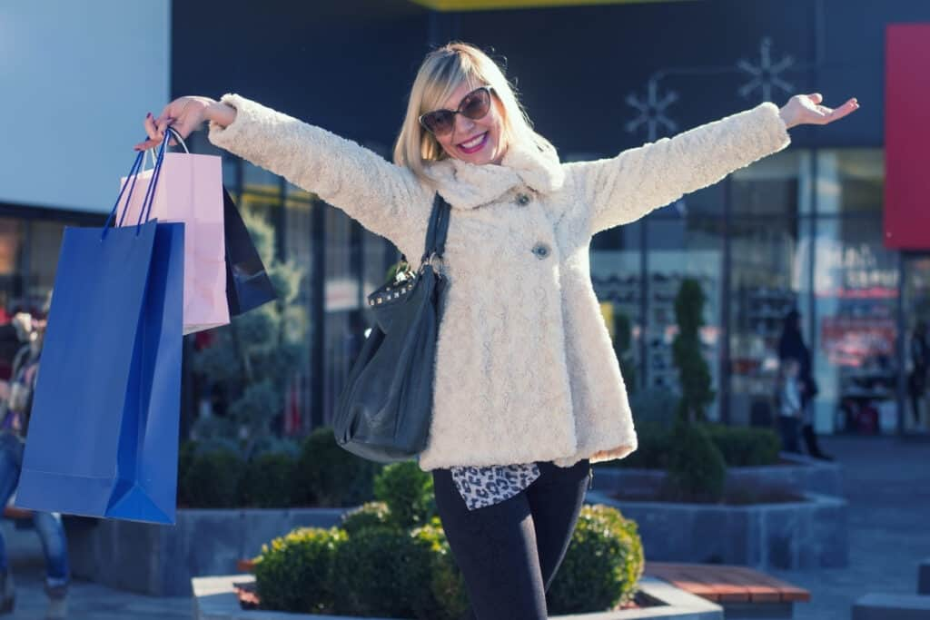 midlife woman shopping with style